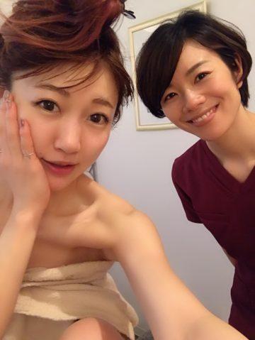 桃ちゃんご来店♡小顔フォーカスで身体の硬直を柔軟に…血流促進が美のポイントです。 イメージ